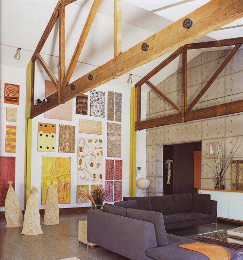 art aborigène jusqu'au plafond