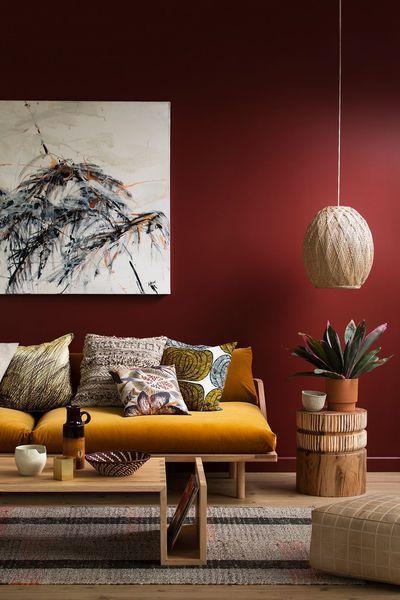 mur rouge vin oeuvre d'art