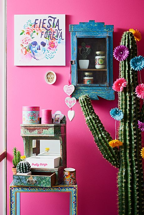 murs roses souvenirs Mexique