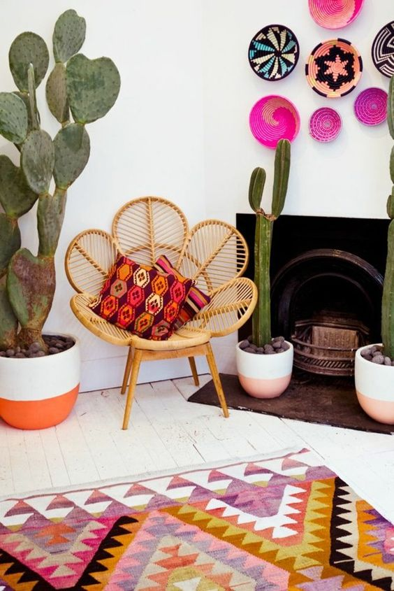 tissus colorés Mexique bols