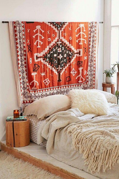 tissu ethnique tête de lit