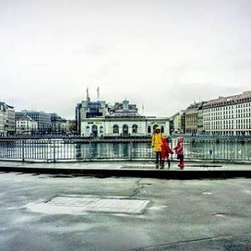 Genève en gris en hiver