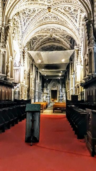 La nef de l'abbaye de Hautecombe