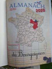 La carte de France et la région Bourgogne